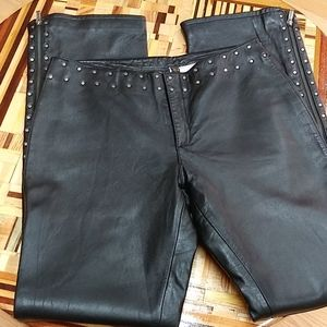 SOFT leather harley ladies size 8